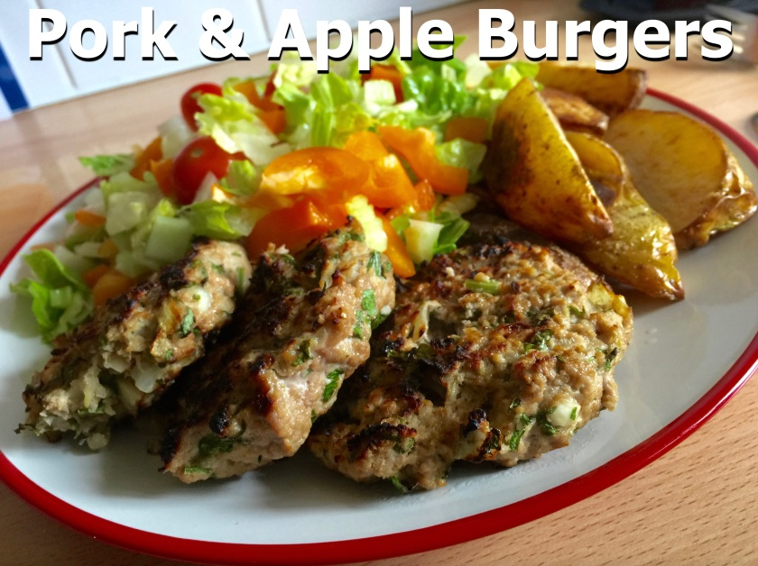 Pork & Apple Burgers 1