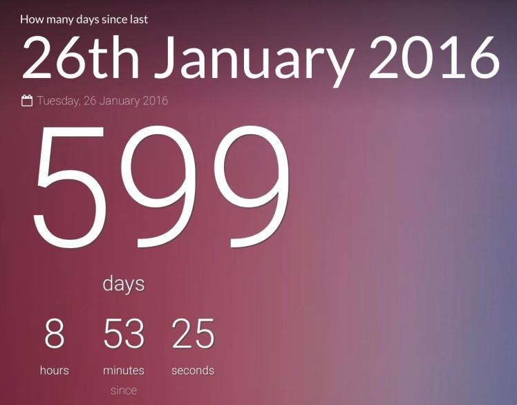599 days