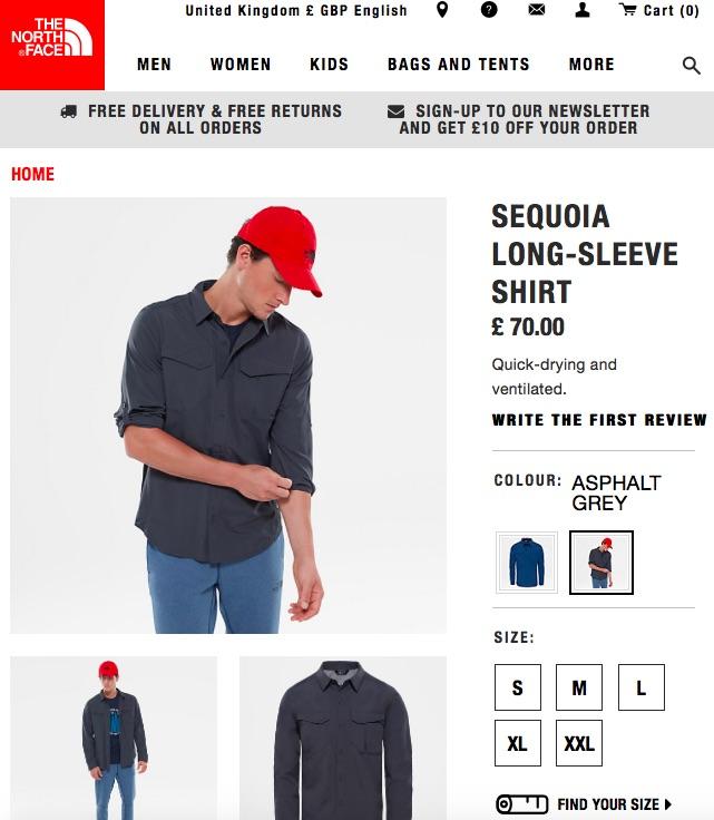 north face shirts